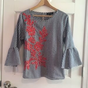 Tops - Gingham blouse
